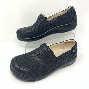 Alegria Black Embossed Clogs Size 43